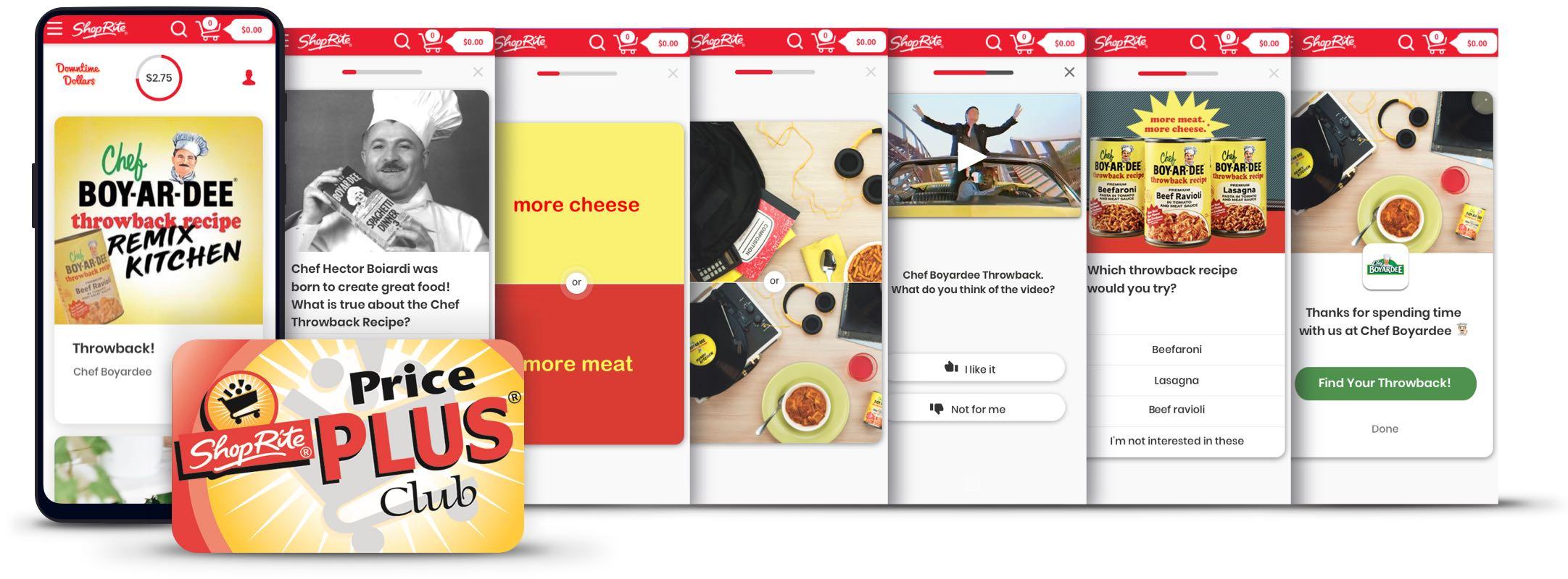 Chef Boyardee brand experience on ShopRite's Downtime Dollars