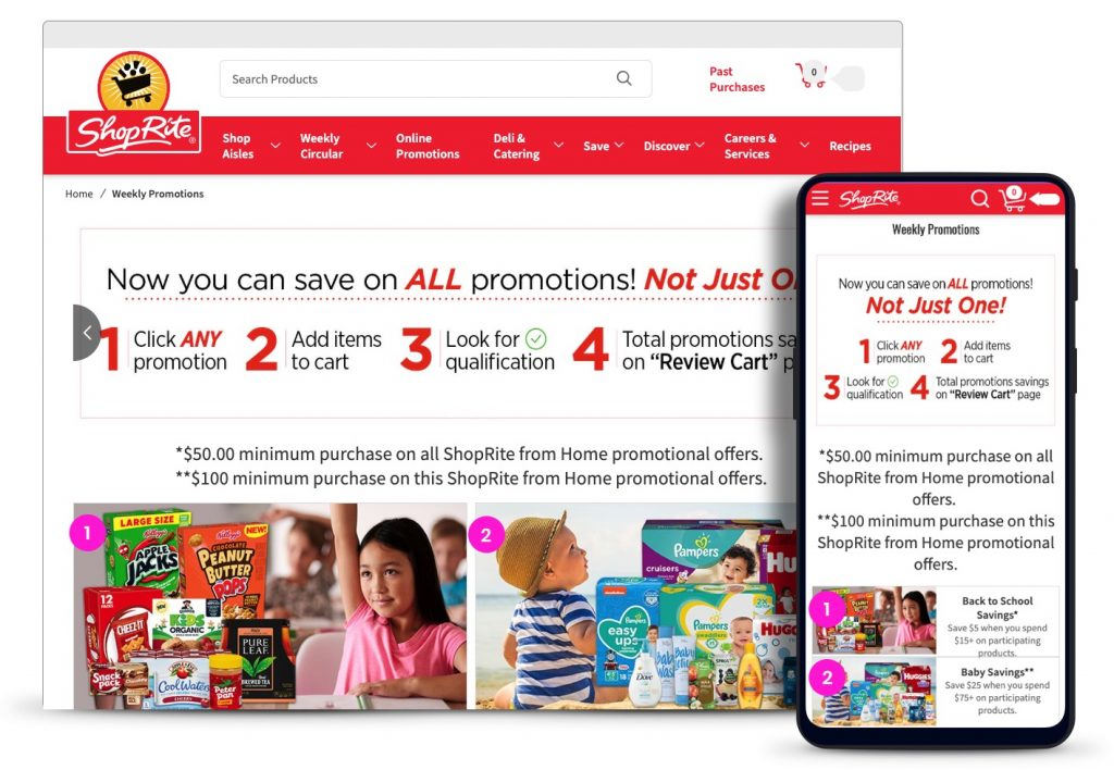 ShopRite.com Online-Only Promotions
