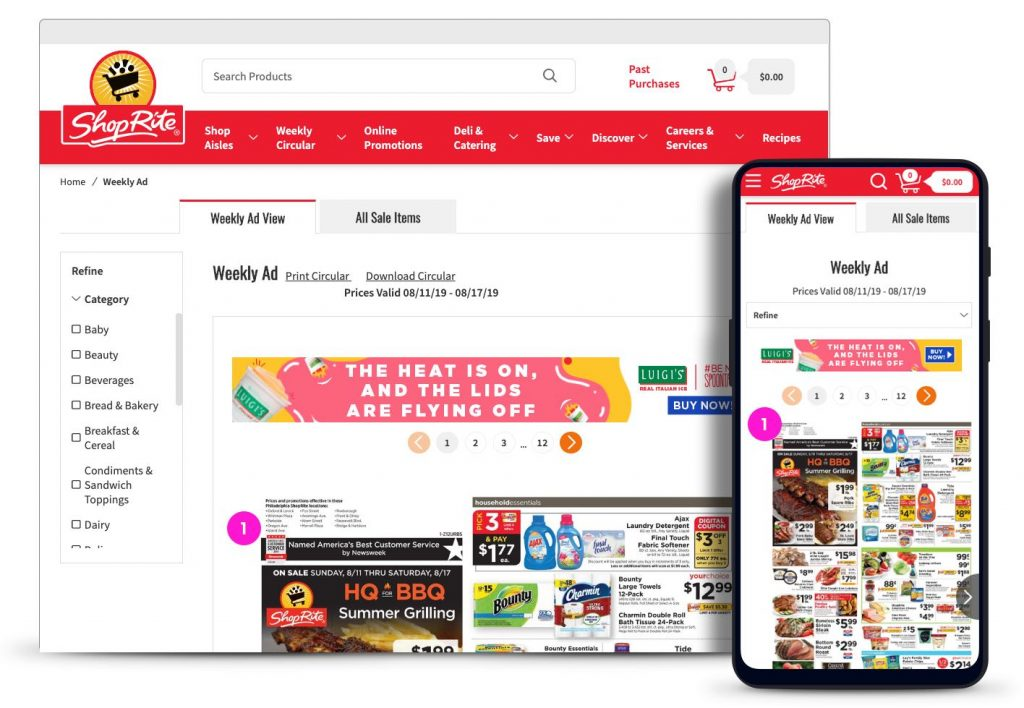 ShopRite weekly circular in digital form