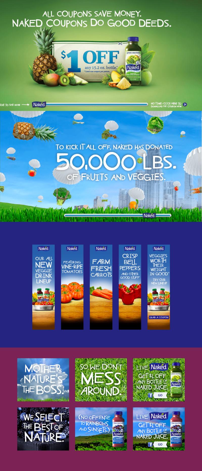 Amp Agency shopper marketing for Naked juice