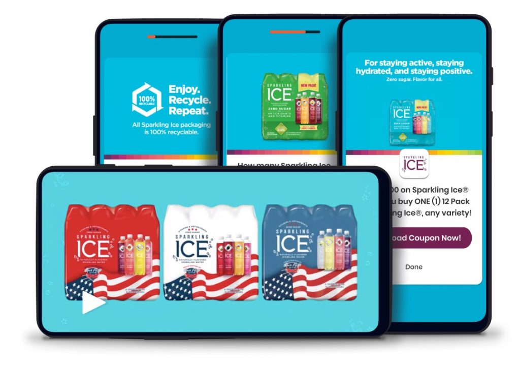 Sparkling Ice brand experience on the Dabbl platform
